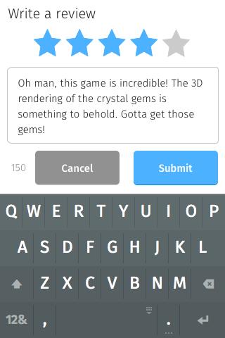 App Details → Write a Review